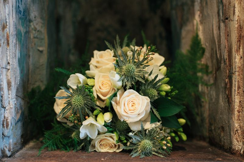 wedding flower arrangement, Clair and Struan 1