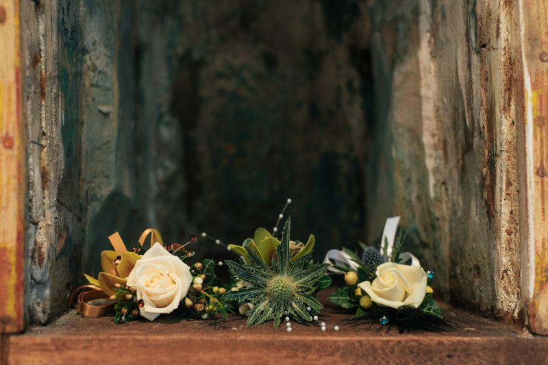 wedding flower arrangement, Clair and Struan 2
